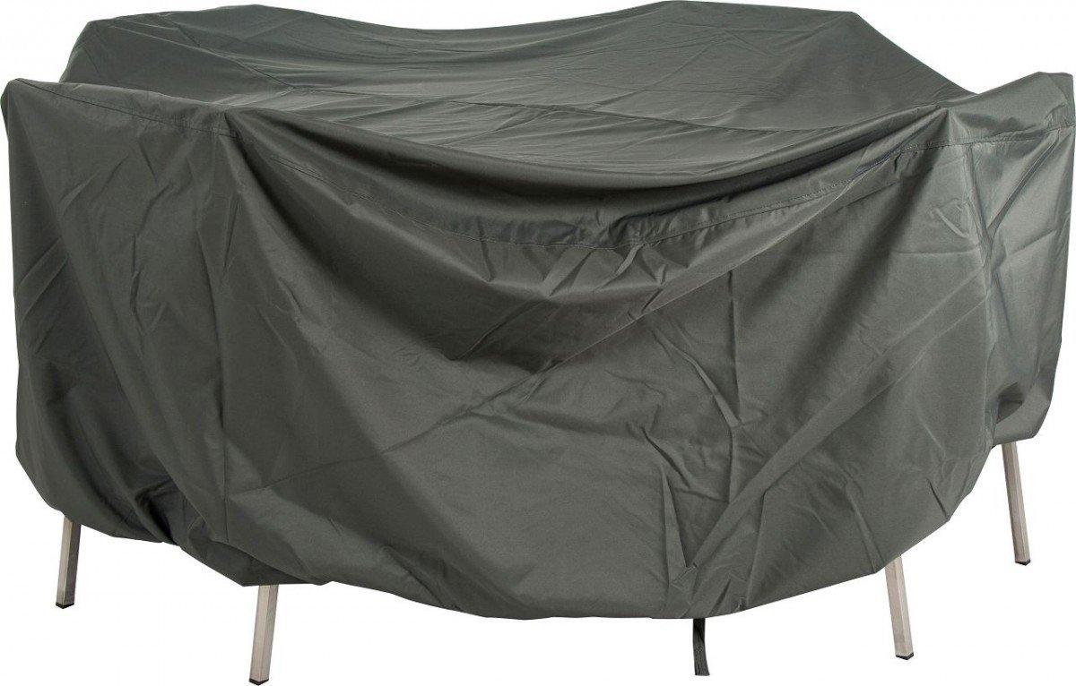 Dreams4Home Schutzhülle für Sitzgruppe oval XL - Schutzhülle, Hülle, Abdeckung, Gartenmöbelabdeckung, B/H/T: 220 x 320 x 90 cm, mit Bindebändern, 100% Polyester PU beschichtet, in grau