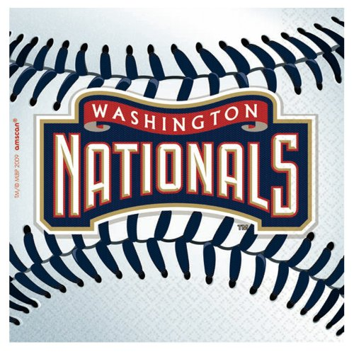 Amscan Washington Nationals Baseball - Beverage Napkins (36) - 1