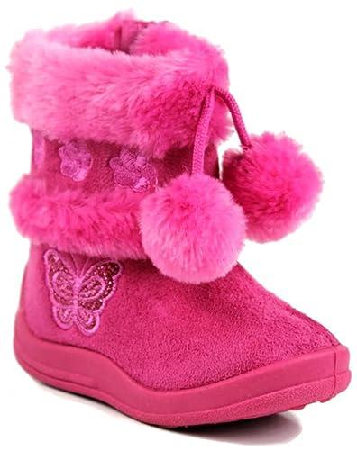 Kali-Footwear-Little-Girl-s-Zello-Glitter-Pom-Pom-Boots