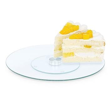 plateau tournant en verre verre 30 cm pr sentoir g teau g teau plat tarte cuisine. Black Bedroom Furniture Sets. Home Design Ideas