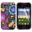 Multi Colour Jellyfish Design Gel Silicone TPU Case Cover with Screen Protector and Cleaning Cloth for Samsung Galaxy Ace S5830