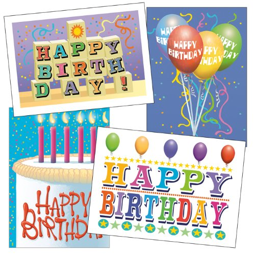 Birthday card assorted pack set of 36 cards envelopes for Birthday cards in bulk for businesses