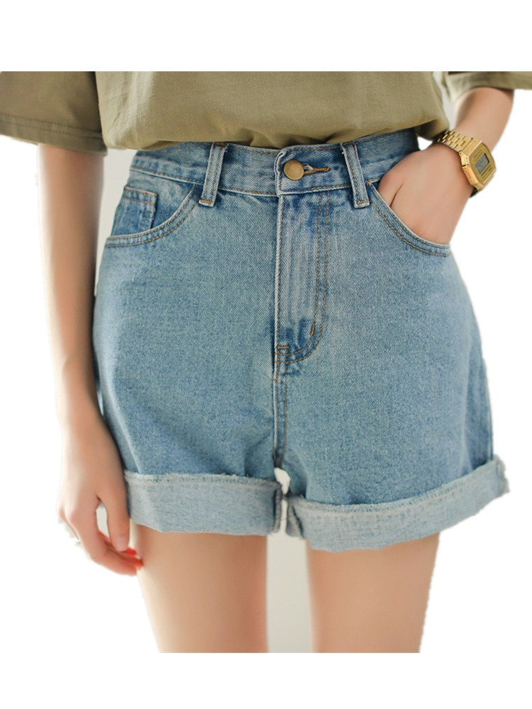 Season Show Girls Denim Shorts Retro High Waisted Jeans Shorts Pant 0