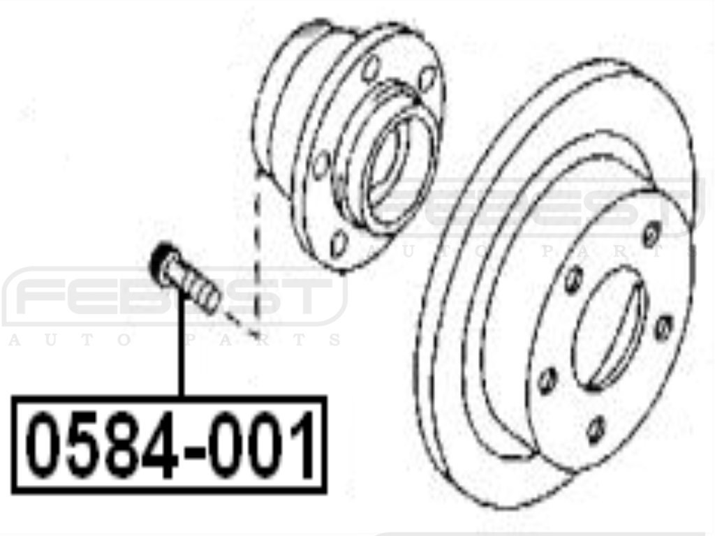 J00Y33062 - Hairpin Wheel / Wheel Lug For Mazda - Febest 48710aa010 rear track control rod for toyota febest