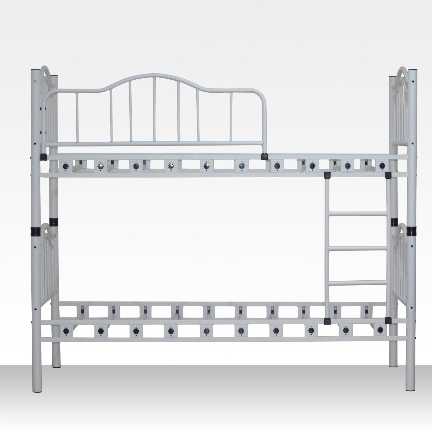 Metall-Etagenbett Adara, 90cm x 200cm Weiß stabile Konstruktion