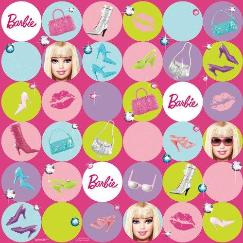Barbie All Doll'd Up Geschenkpapier mit Schlaufe zum Aufhängen online kaufen