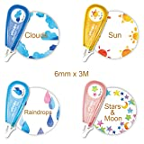 Allydrew 71715c Novelty Decorative DIY Stationery Supplies for Home Office School Sticker Machine Pens, Weather & Constellations (Color: Weather & Constellations)