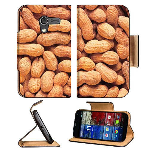 Whole Peanuts Scattered Shells Nuts Motorola Moto X Flip Case Stand Magnetic Cover Open Ports Customized Made To Order Support Ready Premium Deluxe Pu Leather 5 7/16 Inch (138Mm) X 3 1/16 Inch (78Mm) X 9/16 Inch (14Mm) Luxlady Mobility Cover Professional front-476345