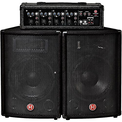 Harbinger M60 60 Watt 4 Channel Compact Portable PA with 10