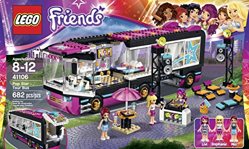 LEGO Friends 41106 Pop Star Tour Bus Building Kit JungleDealsBlog.com
