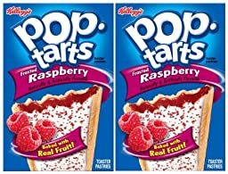 Kellogg\'s Pop-Tarts Toaster Pastries - Frosted Raspberry - 8 ct - 2 pk