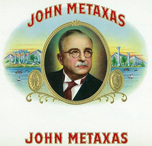 john-metaxas-brand-cigar-box-label-24x23-1-8-gallery-quality-metal-art