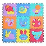 MMRM 1pieza 32*32*1cm espuma de EVA del animal Transporte Fruit Puzzle alfombra bebé estera de los juegos