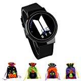 Youyouchard BTS Waterproof Touch LED Watch Bangtan Boys Creative Fashion Electronic Watch Multi Function Digital Sports Wristwatch for BTS Army Gift with a Gift Bag (Random Color)(BK06) (Color: BK06)