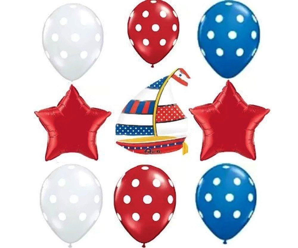 Ocean boy baby shower balloon kits baby shower mania for Anchor balloon decoration