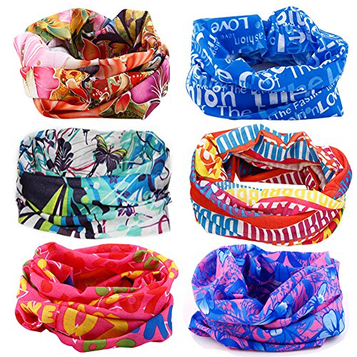 16-in-1 4/9 Pcs Multifunctional Style Yoga Sports Fashion Travel Colors Headband Seamless Neck Uv Solid Moisture Wicking Bandana Turban Scarf (style 8)
