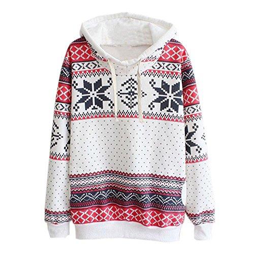 Hoodie-neige-femmes-gomtrique-de-Nol-Sweatshirt-Pull