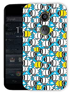 """Cute Submarine Printed Designer Mobile Back Cover For """"Motorola Moto X2"""" By Humor Gang (3D, Matte Finish, Premium Quality, Protective Snap On Slim Hard Phone Case, Multi Color)"""