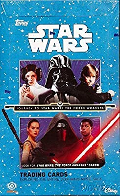 2015 Topps Star Wars Journey to the Force Awakens HUGE Factory Sealed HOBBY Box with 24 Packs and TWO(2) HITS of either Autograph, Sketch Card, Printing Plate or 1977 Topps Buy Back Card ! SUPER HOT!
