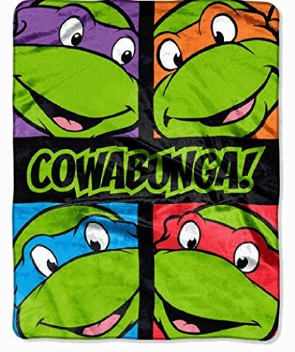 "New Teenage Mutant Ninja Turtles Silk Touch Throw Blanket 40"" X 50"""