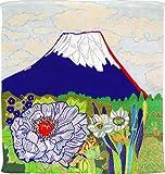 ふろしきや 風呂敷 正絹 牡丹に富士・片岡球子(45cm 絹100%)