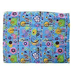 Baby Bucket Multi Purpose Baby Mat Blue Jungle Print Set Of 3 + 1 - Blue
