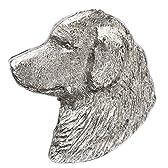 ゴールデンレトリバー(ヘッド) イギリス製 アート ドッグ ブローチ コレクション