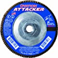 SAIT 76361 Ovation Attacker Flap Disc, 7 x 5/8-11 Z 120x, 10 Pack