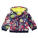 Bóboli Baby-Mädchen Trainingsjacke Fleece Jacket Stretch For Girl, Mehrfarbig (Print 9338), 62 (Herstellergröße: 3M)