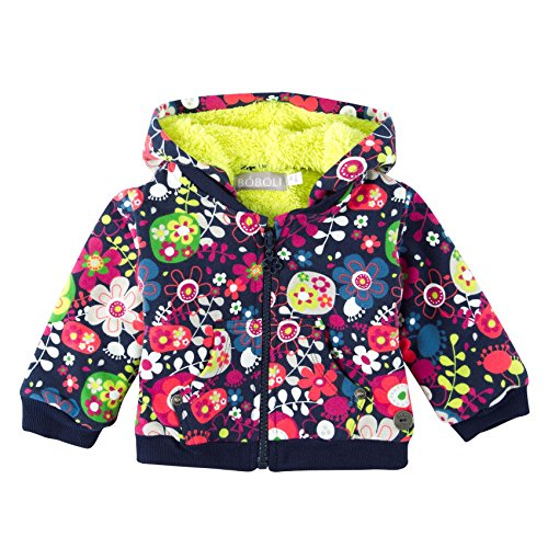 Boboli Fleece Jacket Stretch For Baby Girl, Tuta Sportiva Bimbo, Mehrfarbig (Print 9338), 6 mesi