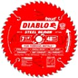 Freud D0748F Diablo Steel Demon 7-1/4 48 Tooth TCG Ferrous Metal Cutting Saw Blade with 5/8-Inch Arbor, Diamond Knockout, and PermaShield Coating