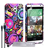 Yousave Accessories HTC Desire 610 Case Jellyfish Silicone Gel Cover With Mini Stylus Pen And Micro USB Cable