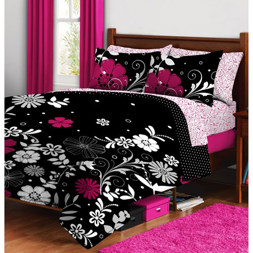 Pink Bed in a Bag Sets. Showing 40 of results that match your query. Search Product Result. Dream Factory Pretty Princess Mini Bed in a Bag Bedding Set, Pink. Product Image. Price $ Pink & Black Leopard Zebra Teen Girls Twin Comforter Set, Toss Pillow & Valances (9 Piece Bed In A Bag.