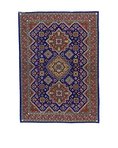 L'Eden del Tappeto Alfombra Azerbaijan Azul Oscuro / Marrón 213t x t148 cm