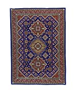 L'Eden del Tappeto Alfombra Azerbaijan Azul Oscuro / Marrón 213  x  148 cm