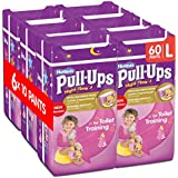 Huggies Pull-Ups Night-Time for Girls, Large, 10 Pants for Toilet Training (Pack of 6, Total 60 Pants)