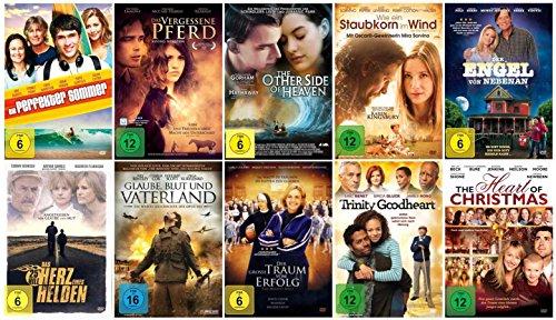 Die christliche Glauben Spielfilm-Sammlung ( 10 ausgewählte Glaubensfilme mit viel Botschaft, Herz und Liebe ) [10 DVDs]