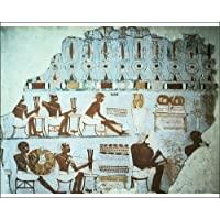 PRINT: FRAGMENT OF PAINTED PLASTER FROM THE TOMB OF SEBEKHOTEP, Thebes, Egypt