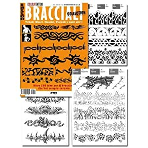 Amazon.com : Tattoo Book of ARMBAND Tattoos Bracciali / Tattoo Flash