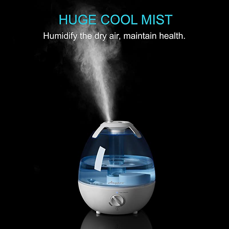 Ultrasonic Cool Mist Humidifier, Anypro 3.5L Anti-mold Humidifiers with Super Quiet Operation, Automatic Shut-off, and Variable Night Lights via Amazon