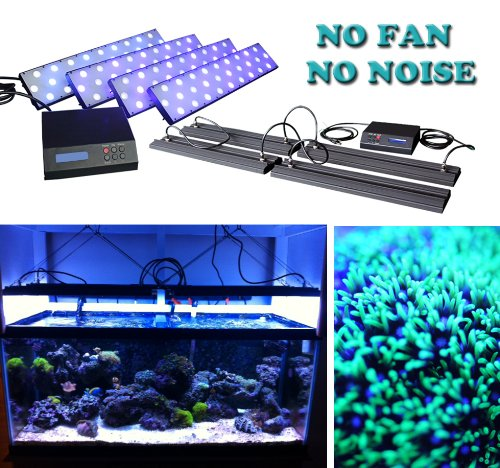 Dsuny® Ultra-Thin Dimmable And Programmable Aquarium Coral Reef Led Grow Light With Lens - Best Cover Any Shape Tank, Huge/Large Fish Tank And No Shadow, 72 Inch