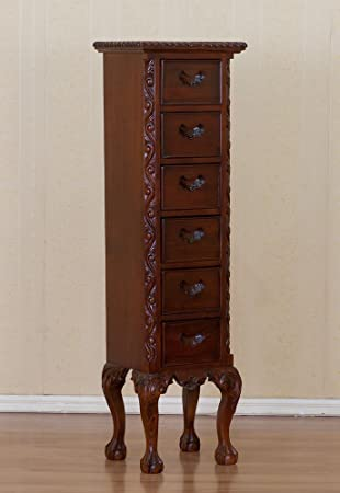 Chippendale HöHE142XBREITE40CM Chest of Drawers Colour: Walnut