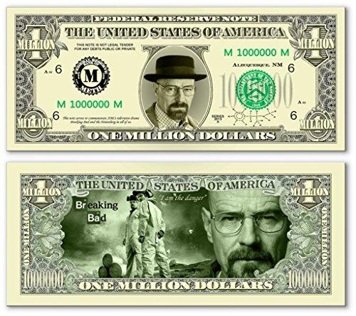 Pack of 25 - Breaking Bad Heisenberg Million Dollar Bills