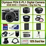 Olympus PEN E-pl1 Digital Camera (Black) with