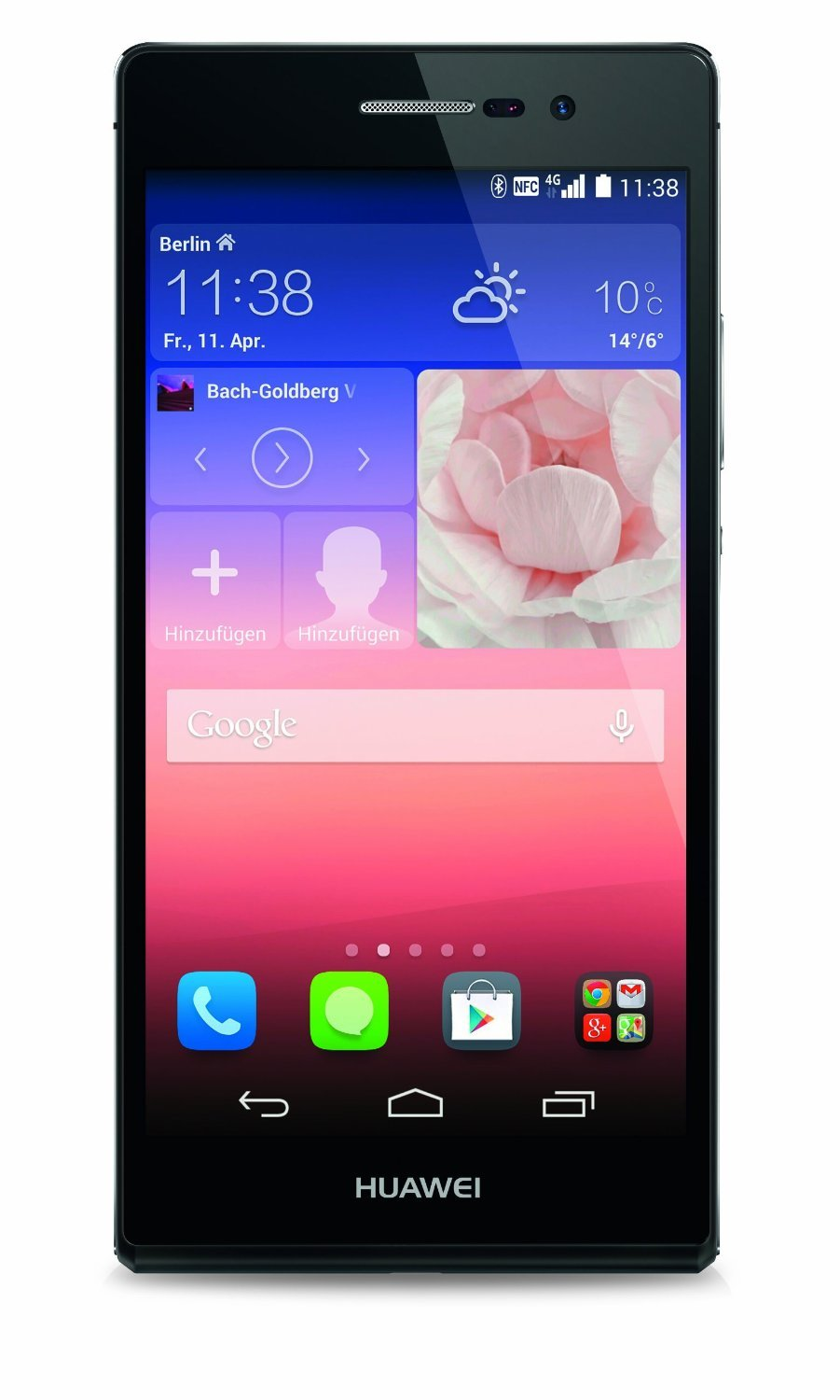 "Huawei Ascend P7 - Smartphone libre Android (pantalla 5"", cámara 13 MP, 16 GB, Quad-Core 1.8 GHz, 2.0 GB RAM) negro"