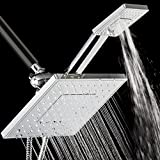 AKDY® 125 Nozzles 3-way Overhead Rainfall / Multi-Function Setting Ultra-Luxury Chrome Handheld Shower Head Combo Set