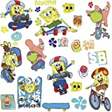 RoomMates RMK1838SCS Spongebob Skaters Peel and Stick Wall Decals