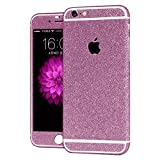 #5: Heartly Sparking Bling Glitter Crystal Diamond Protective Film Whole Body Phone Skin Sticker For Apple iPhone 6 / 6S 4.7 Inch - Cute Pink