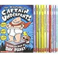 Captain Underpants Series - Complete 11 Book Collection - Adventures of Captain Underpants, Captain Underpants and the Preposterous Plight of the Purple Potty People, Captain Underpants and the Big, Bad Battle of the Bionic Booger Boy, Part 1