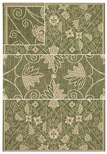 """Elsinore Garden Maze Fern Green Rug Rug Size: 3'11"""" x 5'6"""""""